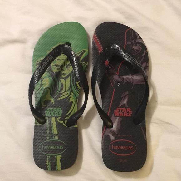 2036fa41bbc4 Star Wars Havaianas flip flops sz 8 NEW Yoda Vader